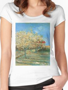 Vincent Van Gogh - Orchard In Blossom, 1888 02 Women's Fitted Scoop T-Shirt