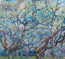 Vincent Van Gogh - Orchard With Blossoming Plum Trees, 1888 Sticker