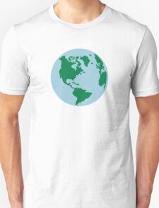 Globe world map america T-Shirt