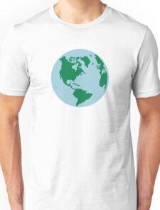 Globe world map america Unisex T-Shirt