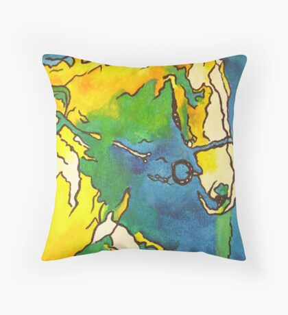 Horse and Bridle Throw Pillow