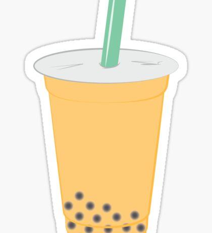 Passion Fruit Bubble Tea Pattern Sticker