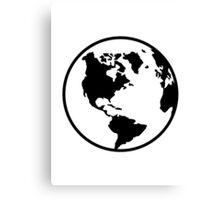 World map globe Canvas Print