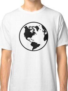 World map globe Classic T-Shirt