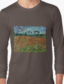 Vincent Van Gogh - Poppy Field 1890  Long Sleeve T-Shirt