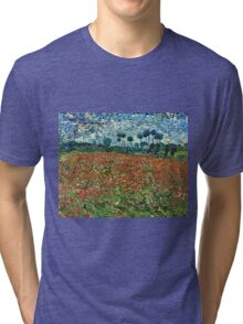 Vincent Van Gogh - Poppy Field 1890  Tri-blend T-Shirt