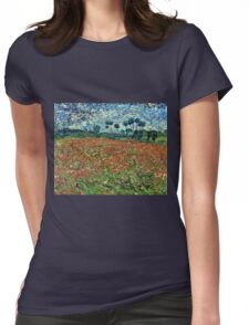 Vincent Van Gogh - Poppy Field 1890  Womens Fitted T-Shirt