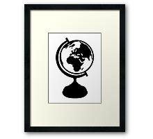 Globe Earth Framed Print