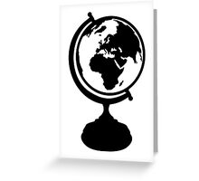 Globe Earth Greeting Card