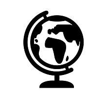 Globe europe africa Photographic Print