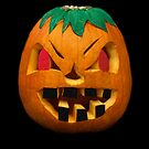 My Painted Carved Pumpkin, Halloween 2014  by Heather Friedman