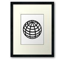 Globe symbol Framed Print
