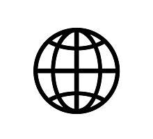 Globe icon Photographic Print