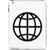 Globe icon iPad Case/Skin