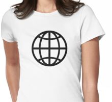 Globe icon Womens Fitted T-Shirt