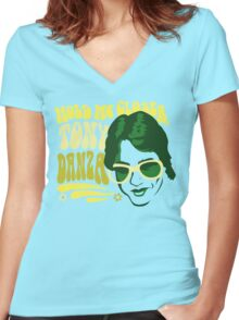 Hold Me Closer, Tony Danza - T-Shirt - Green Women's Fitted V-Neck T-Shirt