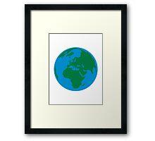 Globe Earth World Framed Print