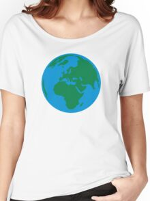 Globe Earth World Women's Relaxed Fit T-Shirt