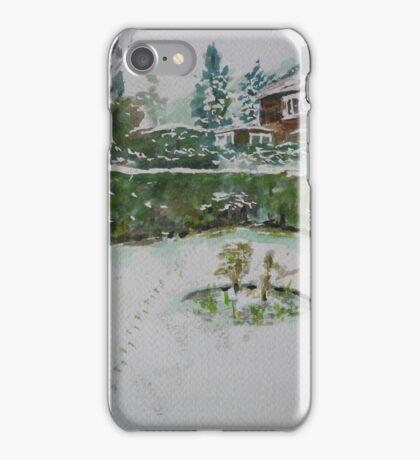 Back Garden in winter iPhone Case/Skin