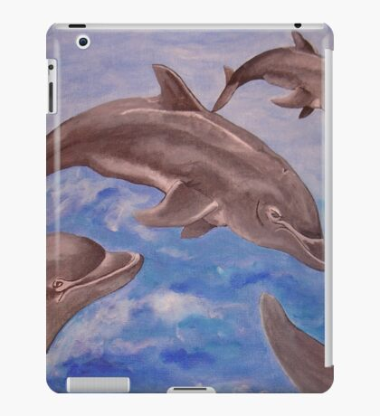 Jumping Dolphins And  Blue Sea iPad Case/Skin