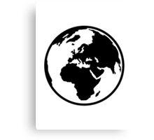 World map africa europe Canvas Print