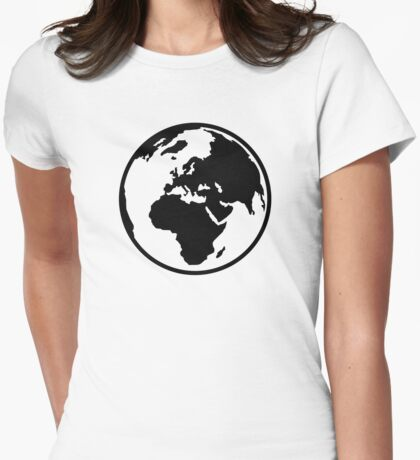 World map africa europe Womens Fitted T-Shirt