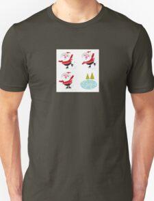 Cute series of ice skating Santas Unisex T-Shirt