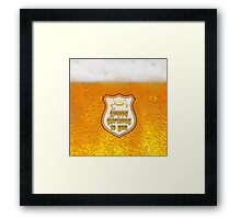Beer happy birthday Framed Print