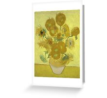 Vincent Van Gogh - Sunflowers 1989 Greeting Card