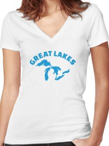 The Great Lakes Women's Fitted V-Neck T-Shirt
