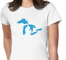 Great Lakes map Womens Fitted T-Shirt