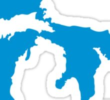 Great Lakes map Sticker