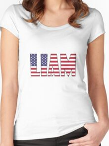 Liam (USA) Women's Fitted Scoop T-Shirt