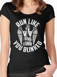 run like you blinked  Women's Fitted Scoop T-Shirt