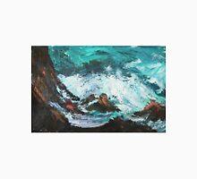 Pacific Rocks California Seascape Acrylics On Paper Fine Art Contemporary Painting Unisex T-Shirt