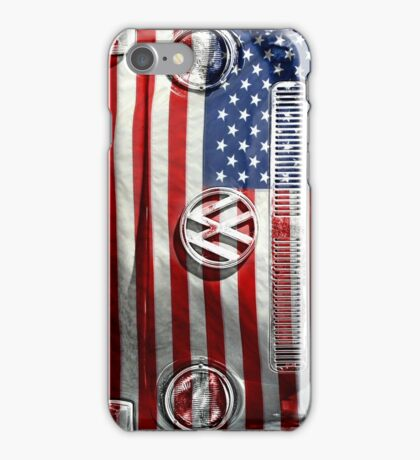 USA flag VW  iPhone Case/Skin