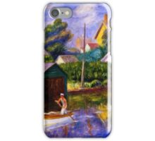William Glackens - The Green Boathouse 1922  iPhone Case/Skin