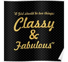 """A girl should be two things... """"Coco Chanel"""" Inspirational Quote (Square) Poster"""