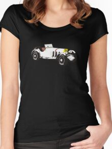 Vintage Sport Car Women's Fitted Scoop T-Shirt