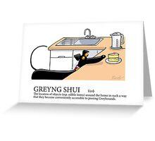 Greyhound Glossary: Greyng Shui Greeting Card