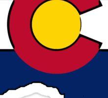 Colorado flag Australia outline Sticker