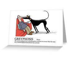 Greyhound Glossary: Greypnosis Greeting Card