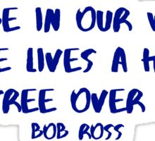 Bob Ross Happy Little Tree Sticker