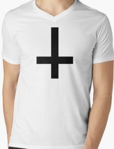 Cross antichrist Mens V-Neck T-Shirt