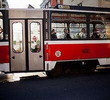 red tram by Victor Bezrukov