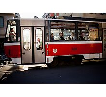 red tram Photographic Print