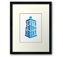 just a mad man with a box Framed Print