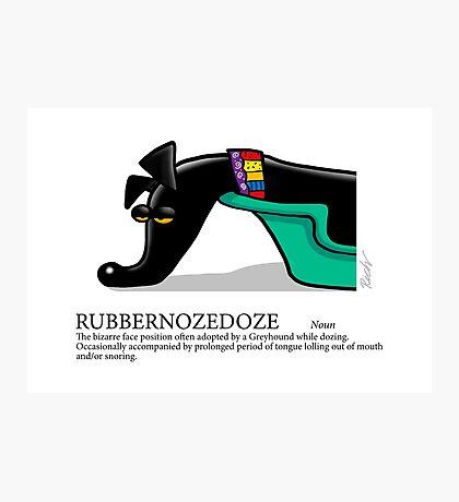 Greyhound Glossary: Rubbernozedoze Photographic Print