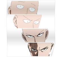 one_punch_man_4_faces Poster