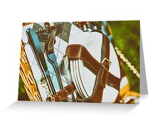 Opened Picnic Basket With Cutlery Greeting Card